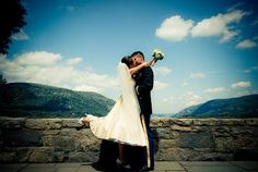 West Point Wedding: Trophy Point and the Hudson