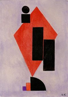 Kasimir Malevich, Suprematist Composition, Gouache on buff paper, c1916