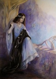 Arwen by Anna Kulisz. Middle Earth Books, History Of Middle Earth, Arwen Undomiel, Alchemy Art, Aragorn, Character Sketches, Jrr Tolkien, Historical Art, Lord Of The Rings
