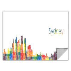 ArtApeelz 'Sydney' by Revolver Ocelot Graphic Art on Wrapped Canvas