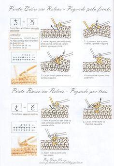 tapetes de croche com ponto argola - Pesquisa Google