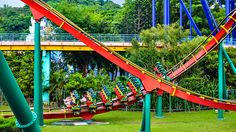 Known as the ?Crazy Coaster,? Insane Speed, at Janfusun Fancyworld, is the only floorless rollercoaster in Taiwan. This coaster twists, flips and turns riders through 4 inversions in 2 exhilarating minutes.