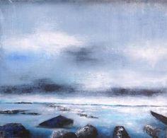 """Saatchi Art Artist Katrine P Funderud; Painting, """"Horizon"""" #art"""