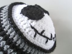 jack skellington crochet hat- inspiration only
