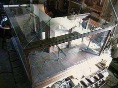 Glass Case L字型ガラスケース棚洋館戦前大正ケビントアンティーク インテリア 雑貨 家具 Antique ¥38000yen 〆05月15日
