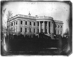 Earliest photo of the White House, 1846. James K. Polk was President.