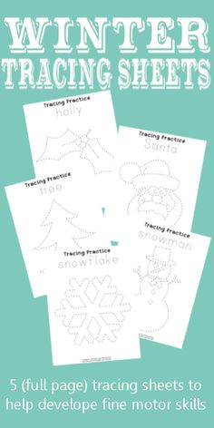Free Winter Tracing Sheets to build fine motor skills  |  Creative Homeschool
