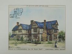 House for W. Paas, Littlehampton, West Sussex, England, 1882, Original Plan. Burnell.
