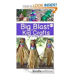 """Book filled with summer crafts for kids! """"Big Blast Of Kid Crafts #1: Fun In The Sun!"""" Available for iPad, Kindle, and as an eBook on Etsy! (There's a free craft in the preview on Amazon!)"""