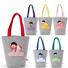 "16 Likes, 1 Comments - miki (@sanrio_loveee) on Instagram: ""Sanrio charcters x Osomatsu san Sweater Tote Bag #hellokitty #sanrio #sell"""
