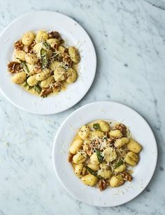 Our super speedy gnocchi topped with delicious walnut