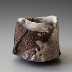 Akira Satake - Guinomi (sake cup) - Natural wood ash with shino glaze, Woodfired