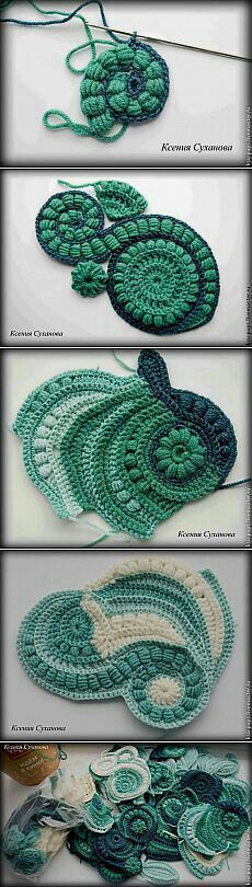 some inspiration for freeform crochet