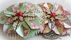 Great folded paper #Christmas ornaments....for next year!