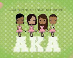 Alpha Kappa Alpha  Print by PincurlGirls on Etsy, $19.50