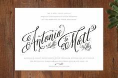 Traditional Royalty Wedding Invitations by two thirteen studio at minted.com