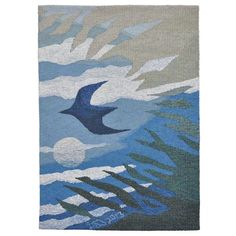 Woven Tapestries by Leila Thomson -Reflective Illusions, 19 x 27 inches- Hoxa Tapestry Art Gallery Orkney
