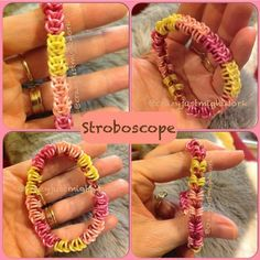 "New ""Stroboscope"" Hook Only Rainbow Loom Bracelet/How To Tutorial"