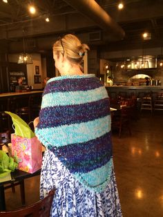 Back view of Heather's prayer shawl.
