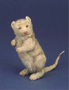 Very rare Steiff Opossum `Billy Possum, circa 1910. (In 1909 William H. Taft became President of the USA; following Theodore Roosevelt. As Teddy Roosevelt had his adopted mascot, the Teddy Bear; Taft and his supporters adopted a Opossum called Billy. Rather amusingly, at a dinner to honour the new president held in Atlanta, `Opossum aux patates' - Opossum with sweet potatoes, was served!  In the same year, in response, Steiff registered this design and he was made until 1914.)