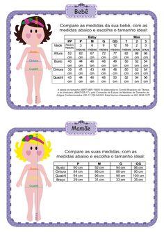 tabela de medidas bebe - Pesquisa Google