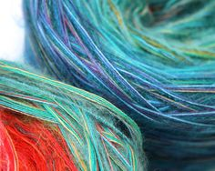 Sunset 500g (1.1 lbs.) hand blended winding & written instructions for knitting a DIY Blanket Throw/Cafe Wrap /// Wrapture by Inese /// Cool Supplies for fiber artists from TAFA /// http://www.tafaforum.com/market/tafa-market-supplies/
