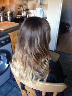 Ombre dip dye Balayage. Brown to blonde. Beachy waves THIS IS WHAT I WANT