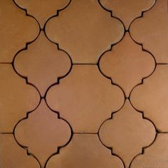 9x11 Arabesque 2 Handcrafted Spanish Mission Red Terra Cotta Floor Tile