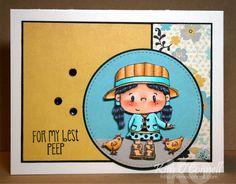 C.C. Designs Pollycraft Birdie and Hopped Up sentiment stamp set by Kim O'Connell