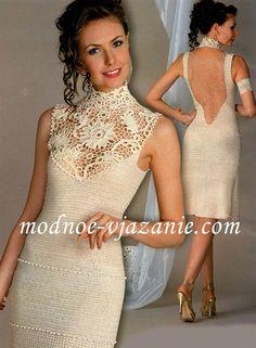 Платье вязаное ирландским узором