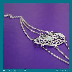 Bracciale in acciaio con smalto turchese della collezione #WomanChic. Steel bracelet with turquoise polish. #WomanChic collection