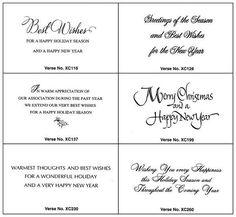 Christmas Greeting Card Verses