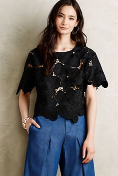 Oversized Floral Lace Tee