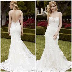 Enzoani blue 2015 2016 backless lace wedding dress