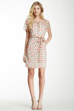 Printed Peasant Dress by Tulle on @HauteLook This dress makes me happy for some reason. Cute!