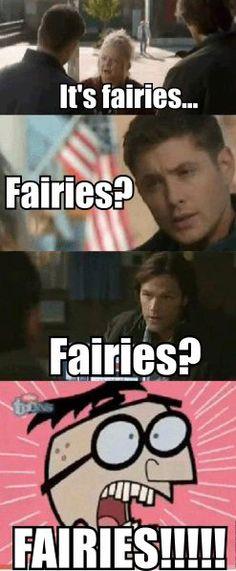 Supernatural meets Fairly Oddparents...Lol!