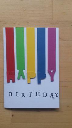 Schlichte Geburtstagskarte