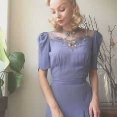 Going to the Royal Opera House to review a production of Swan Lake for a magazine ✨🕊 Wearing 1930s cornflower blue illusion dress (has a matching bolero) and a 1940s sequined head piece 💫🌙 #1930s #1940s #truevintageootd #ballet