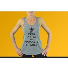 Fitness Tank Top  - Namaste Bitches - Keep Calm and Namaste Bitches. Yoga Top. Funny Tank Tops. Flowy Workout Tank.