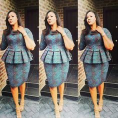 African dress trend These African clothing offer numerous different colors, designs, and materials which could be worn. To get the suitable one, you can browse African dresses pictures ideas to find the outfit that you will want to wear. African Dresses For Women, African Print Dresses, Formal Dresses For Women, African Print Fashion, African Attire, African Wear, African Fashion Dresses, African Women, African Prints