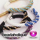 Tutorial - Videos: How to Make the Deluxe Beaded Kumihimo Bracelet Kit with Spiral Bicone Focal | Beadaholique
