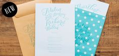 Letterpressed wedding stationary by Pretty Paper, Sweden.