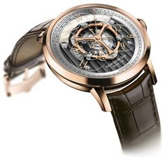 """Arnold and Son Golden Wheel Watch: Return Of The Star Wheel """"Some people are going to be really excited about the upcoming Arnold & Son Golden Wheel watch which marks a new 'Star Wheel' style complication which many collectors have great enthusiasm for. This is a concept also known as 'wandering hours' which has been around since at least the 18th century - though it is rare to find in watches today..."""""""