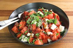 Watermelon Basil Moz