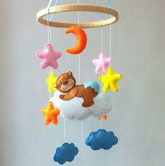 Mobiles Babybett Baby Kinderzimmer Dekor fühlte sich