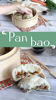 Pan Relleno, Bao, Dumplings, Yummy Food, Asian, Cooking, Breakfast, Beverages, Recipes