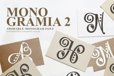 Monogramia 2 by Font Bundles Store available for $10.00 at FontBundles.net