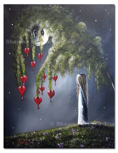 GOTHIC fantasy ART print on canvas / lowbrow & by shawnaerback, $99.00