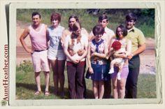 Glen & Barb, Mom & Dad, Buddy & Jocye, Uncle Sonny & Aunt Carol & Chad at Grandpap Risher's 1972 #AuntHeather