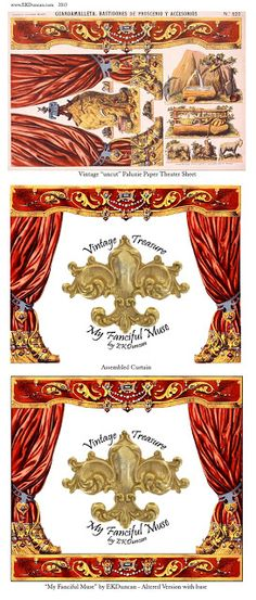 EKDuncan - My Fanciful Muse: Spanish Paper Theater Images Part 1 - Paluzie, Barcelona ~ lots of vintage printables for theatres and carousels